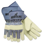MCR Safety Mustang Premium Grain-Leather-Palm Gloves, 4 1/2 in. Long, Medium