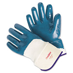 MCR Safety Predator Nitrile Gloves, Blue/White, Large