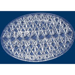 "Maryland Plastics Crystal Cut Plastic Serving Tray, 13"" dia, Clear"