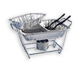 Maryland Plastics Kingsmen Full-Size Wire Chafing Racks, 24w x 12d x 8h, Chrome