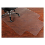 Mammoth Office Products PVC Chair Mat for Hard Floors, 45 x 53, 12 x 25 Lip, Clear
