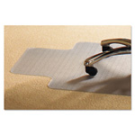 Mammoth Office Products PVC Chair Mat for Standard Pile Carpet, 45 x 53, 25 x 11 Lip, Clear