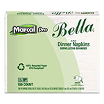 Marcal 100% Premium Recycled Bella Dinner Napkins, 15 x 17, White, 3000/Carton