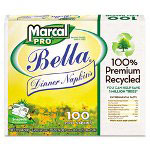 Marcal Dinner Napkins, White, 2 Ply, 30 Packs of 100