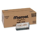 "Marcal 2930 White Soft 2-Ply Facial Tissue, 4 1/2"" x 8 3/5"" x 1 4/5"""