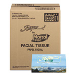 Marcal PRO 100% Premium Recycled Facial Tissue, White, 144 Sheets/Box