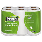 "Marcal 6181 White Recycled Bulk Perforated MaxiRoll Paper Towels, 11"" x 6"""