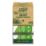 Marcal 100% Premium Recycled Roll Towels Roll Out Case, 140 Sheets/RL, 11 x 5-3/4,12/CT