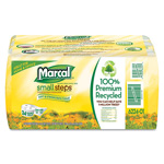 Marcal 100% Recycled Bundle Bathroom Tissue, White, 4 Rolls/Pack, 6/Carton