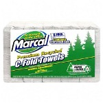Marcal 6724 White Embossed C-Fold Paper Towels