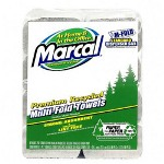 "Marcal 6729 White Multifold Paper Towels, 9.4"" x 9.5"""