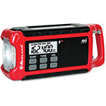Midland Radio Emergency Crank Radio, Red/Black