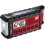 Midland Radio Emergency Crank Radio ER310, Red/Black
