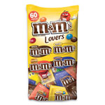 M & M's Candy, 4 Flavors, Single-Serve Bags, 33.08 oz., 60/BG