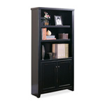 Martin Furniture Tribeca Loft TL3670D Lower Door Bookcase - 2 Door - Black