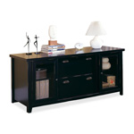 Martin Furniture Tribeca Loft TL687 Storage Credenza - 2 Drawer - Black