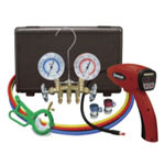 Mastercool Electronic Leak Detector With Brass Gauge Set