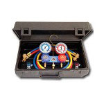 "Mastercool 134a Aluminum Gauge Set w/60"" Goodyear Hoses and Manual Couplers"
