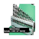 Mountain 13 Piece High Speed Steel, HSS Drill Bit Set