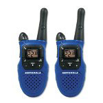 Motorola MC220R Talkabout Two-Way Radios, 22 Channel, 1 Watt, Blue, 2/Pack