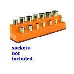 "Mechanics Time Saver 3/8"" Drive 14 Hole Solar Orange Impact Socket Holder"