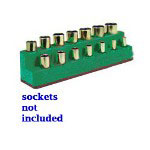 "Mechanics Time Saver 3/8"" Drive 14 Hole Dark Green Impact Socket Holder"