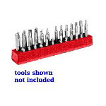 "Mechanics Time Saver 1/4"" Magnetic Red 37 Piece Bit Holder"