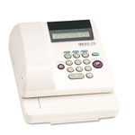 Max USA Model EC70 Electronic Checkwriter, 77/8w x 95/8d x 35/8h, White
