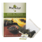 Mighty Leaf Tea Whole Leaf Tea Pouches, Green Tea Tropical, 15/Box