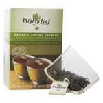 Mighty Leaf Tea Whole Leaf Tea Pouches, Organic Spring Jasmine, 15/Box