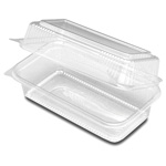 "D&W Finepack SeeShell 9"" x 5"" Hinged Loaf Container"