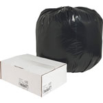Nature Saver Recycled Black Trash Bags, 45 Gallon, Box of 100