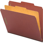 Nature Saver 01053 Classification Folder, Legal, 1 Partition, Red