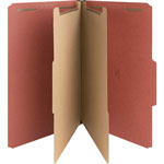 Nature Saver 01054 Classification Folder, Legal, 2 Partitions, Red