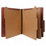 Nature Saver Recycled Folder, Letter, 3 Partitions, Red
