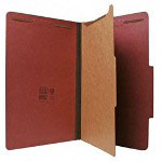Nature Saver Recycled Folder, Legal, 1 Partition, Red