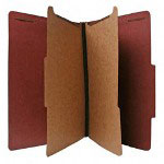Nature Saver Recycled Folder, Legal, 2 Partitions, Red