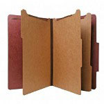 Nature Saver Recycled Folder, Legal, 3 Partitions, Red