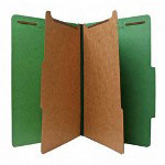 Nature Saver Recycled Folder, Legal, 2 Partitions, Green