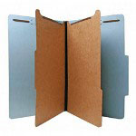 Nature Saver Recycled Folder, Legal, 2 Partitions, Blue
