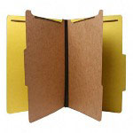 Nature Saver Recycled Folder, Legal, 2 Partitions, Yellow