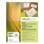 "Nature Saver Bright White Laser/Inkjet Mailing Labels, 1"" x 2 5/8"""