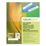 "Nature Saver White Laser/Inkjet File Folder Label, 2/3"" x 3 7/16"""