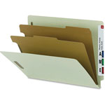 Nature Saver Classification Folder, w/ 2 Dividers, Letter, 10/Box, Gray