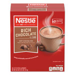 Nestle Instant Hot Cocoa Mix, Rich Chocolate, 0.71 oz Packets, 50/Box, 6 Box/Carton