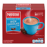 Nestle No-Sugar-Added Hot Cocoa Mix Envelopes, Rich Chocolate, 0.28 oz Packet, 30/Box