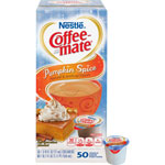 Coffee-Mate® Liquid Coffee Creamer, Pumpkin Spice, 0.375 oz Mini Cups, 50/Box