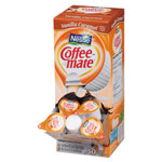 Coffee-Mate® Liquid Coffee Creamer, Vanilla Caramel, 0.375 oz Cups, 50/Box, 4 Box/Carton