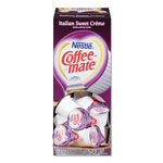 Coffee-Mate® Liquid Coffee Creamer, Italian Sweet Creme, 0.375 oz Cups, 50/Box