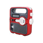 Eton Corporation SOLARLINK FR360 Radio Tuner, Red